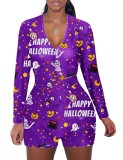 Mamelucos de salón de manga larga con estampado de Halloween