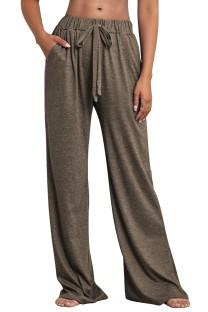 Pantalones de pijama sueltos con cordones casuales de otoño