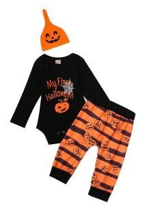 Ensemble de pantalons à imprimé Halloween pour bébé garçon 3 pièces
