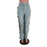 Party Sexy Patchwork Ruffle Pants