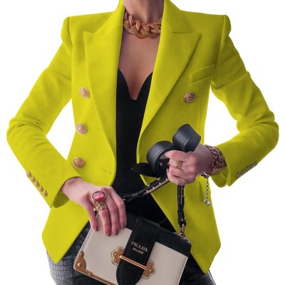 Blazer de bureau de couleur unie d'automne occidental