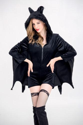Halloween Bat Dames Zwart Kostuum Set