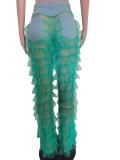 Pantalon à volants en patchwork sexy de fête