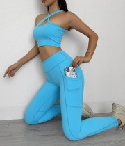 Sommer Multi-Way Yoga BH und Legging Set