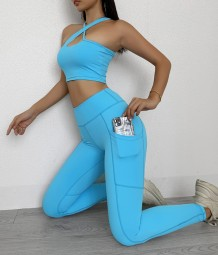 Summer Multi-Way Yoga Bra and Legging Set