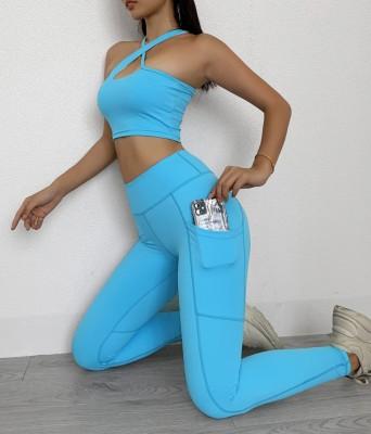 Ensemble de soutien-gorge et legging de yoga multi-directions d'été