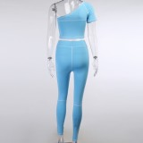 Ensemble haut court et legging assortis Sports Fitness