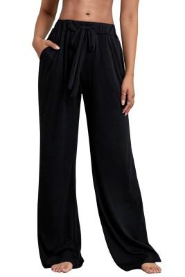 Pantalon de pyjama ample avec cordons de serrage