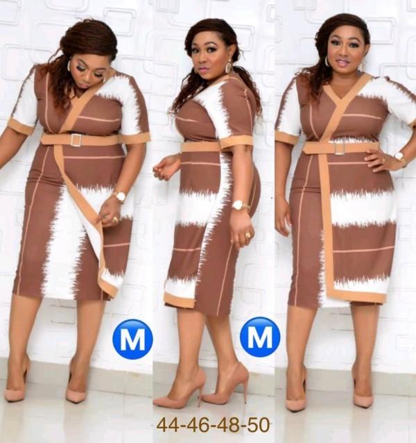 Robe midi portefeuille africaine mère de la mariée avec ceinture