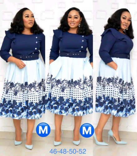 Afrika Gelinin Annesi Kaykaycı Elbisesi