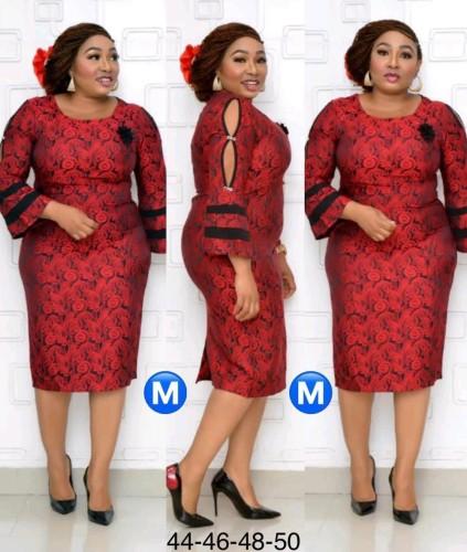 Afrika moeder van de bruid gebloemde midi-jurk
