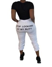 Pantalon décontracté à imprimé d'automne