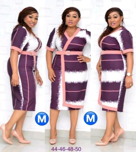 Afrika moeder van de bruid gewikkelde midi-jurk met riem