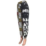 Pantalones formales con estampado de cintura alta de África