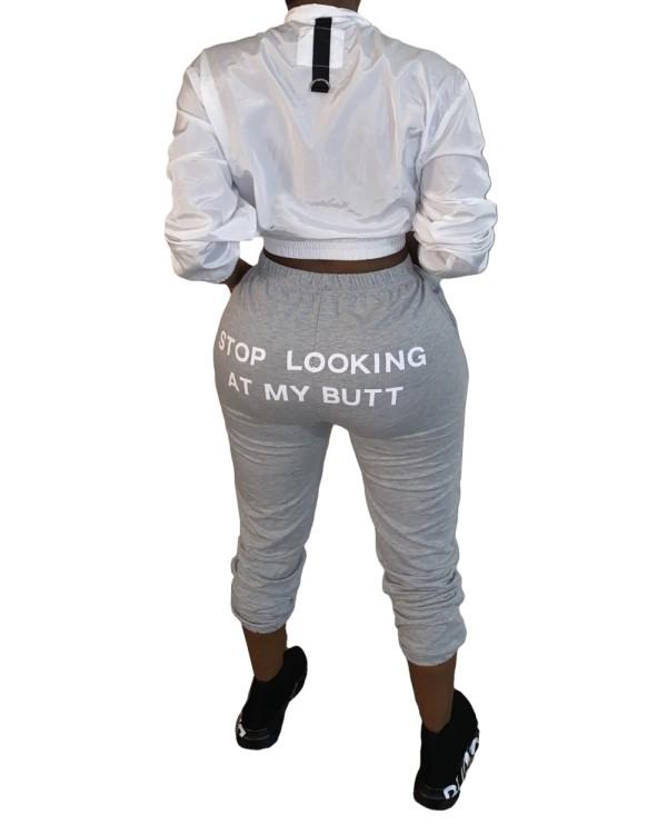 Pantalones casuales con espalda estampada de otoño