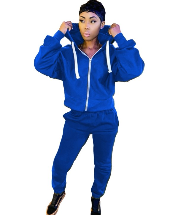 Chándal Autumn Blue Zip Up Hoodie