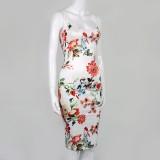 Vestido midi floral con tirantes vintage romántico de verano