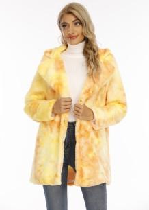 Winterjas met omslagkraag en tie-dye lange jas met zakken