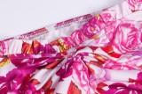 Mini vestido retro floral cuadrado elegante de otoño