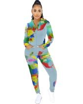 Herbstkarte Print Zip Up Hoodie Trainingsanzug