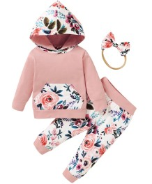 Baby Girl Autumn 3PC Blumenhose Set