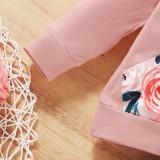Ensemble de pantalons floraux pour bébé fille automne 3PC