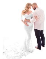 Pregenant Full Lace Sweetheart Fischschwanz Brautkleid