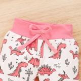 Ensemble de pantalons à imprimé animal pour bébé fille automne 3PC