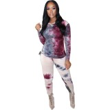 Conjunto de camisa y pantalón con efecto tie dye Autumn Africa