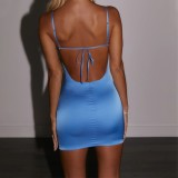 Summer Backless Sexy Strap Minikleid