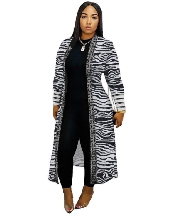 Manteau long imprimé automne Afrique