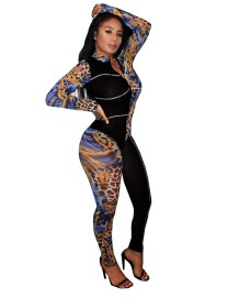 Herbst Party Sexy Leopard Bodycon Overall