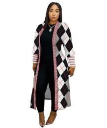 Lange jas met Afrikaanse print