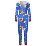 Pyjama cache-couche à capuche et imprimé de Noël