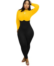 Autumn Party Sexy Contrast Bodycon Jumpsuit