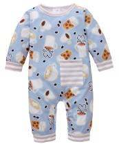 Pagliaccetti con stampa autunnale per neonato