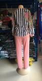 Plus Size Mother Mature Leopard Bluse und Solid Pants Set