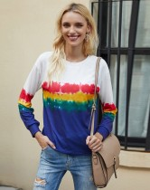 Sonbahar Rahat Renkli Yuvarlak Yaka Normal Gömlek