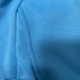 Conjunto de camisa y pantalón informal liso liso con cuello en V de otoño