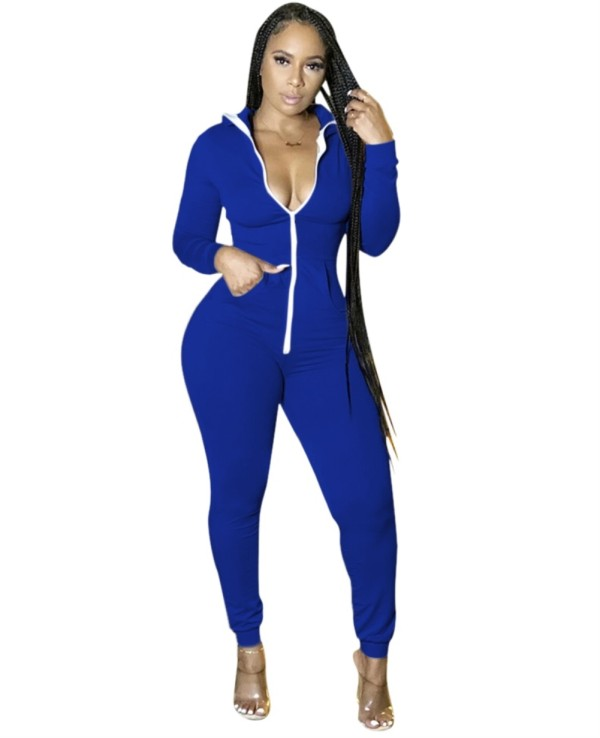 Herbst Solid Plain Fitness Hoodie Overall