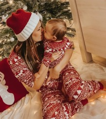 Christmas Family Mom Shirt and Pants Pajama Set