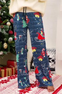 Christmas Print Pajama Trousers