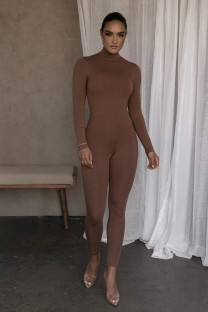 Herfstfeest Sexy pure coltrui bodycon jumpsuit