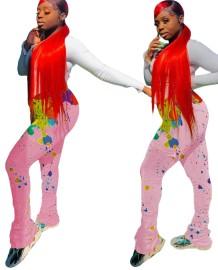 Pantalon africain taille haute avec poches