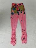 African High Waist Paints Taschenhose