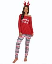 Weihnachtsfrauen drucken zweiteiligen Pyjama