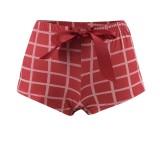 Weihnachtsfrauen drucken Crop Top und Shorts Pyjama Set