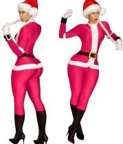 Weihnachtsfrauen Santa Jumpsuit und Hut Set