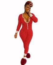 Pyjama de Noël à pois pour femme