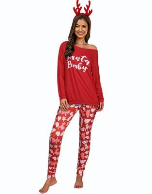 Christmas Women Print Two Piece Pajama